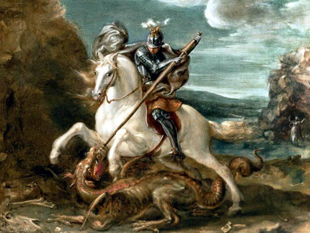 Quem foi São Jorge Guerreiro? cavalo branco