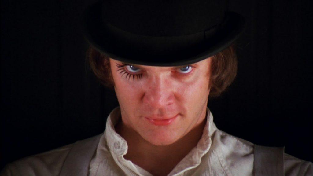 Imagem do filme Laranja Mecânica, de Kubrick.