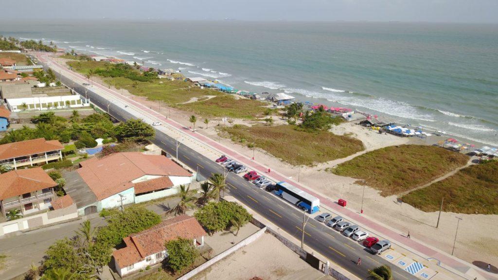 Na Praia do Araçagi foram concluídos 940 metros de calçadão com pista de cooper, área para ciclismo e novos espaços de vivência. Foto: Gilson Teixeira