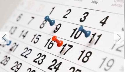 Confira o calendário dos feriados em 2018