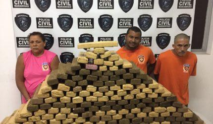 Polícia apreende 200 kg de maconha em uma residência