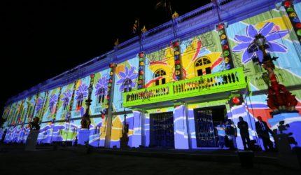 Veja como funcionam as projeções de videomapping no Palácio dos Leões