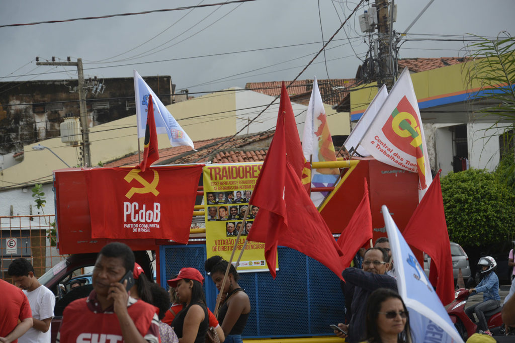 Grupo protesta contra Reforma da Previdência em Goiânia