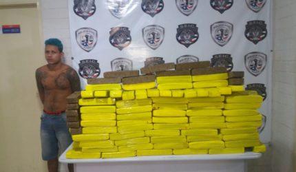 Traficante é preso em Panaquatira com 150 kg de maconha