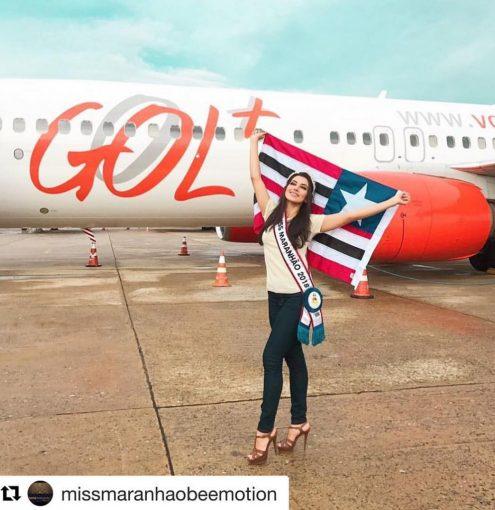 Miss Maranhão já está em São Paulo em preparação para o Miss Brasil
