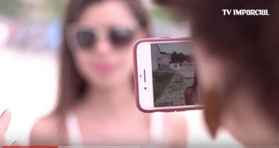 Inclusão: Deficientes visuais tiram fotos em oficina