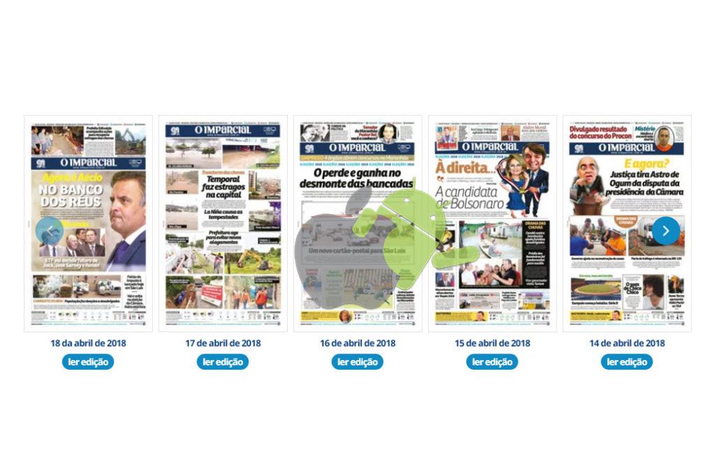 5645a736b8cff Com design clean e arrojado, agora é possível acessar de maneira fácil e  rápida edições atuais e passadas de O Imparcial, Aqui MA, revista  gastronômica Você ...