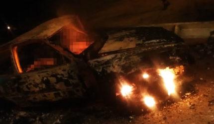 Homem bate carro e é carbonizado após perseguir bandidos na BR-135