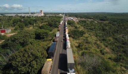 Onze protestos de caminhoneiros são registrados nas rodovias do Maranhão