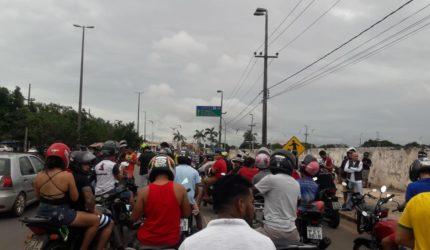 Motociclistas fazem protesto em avenidas de São Luís