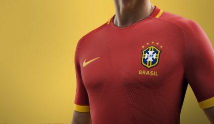 As vezes que a Seleção Brasileira usou camisa vermelha; e outras curiosidades