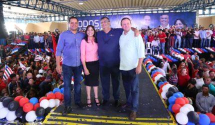 Milhares acompanham lançamento da candidatura de Flávio Dino