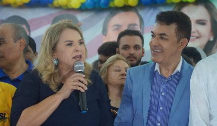"""""""Sou guerreira. Sou mãe"""", diz Maura Jorge em convenção estadual do PSL"""