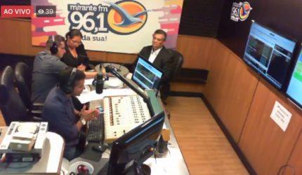 Assessores de Dino festejaram entrevista na Mirante