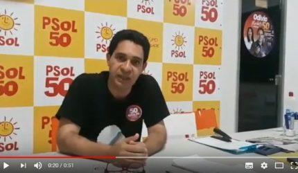 Odívio Neto envia vídeo para justificar ausência em sabatina