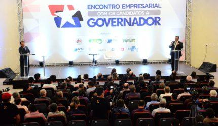 Candidatos apresentam propostas para empresários