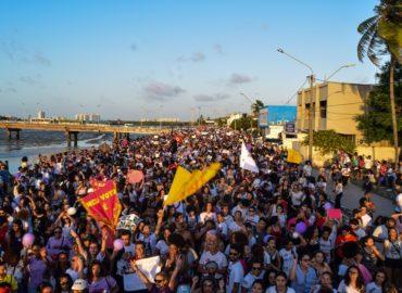 Mulheres fazem ato em São Luís contra Bolsonaro e pela democracia