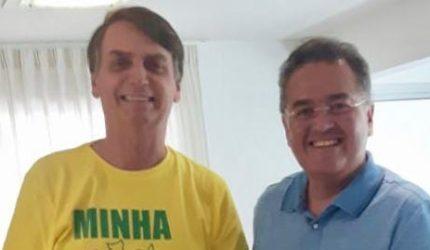 Roberto Rocha e Aluísio Mendes visitam Jair Bolsonaro