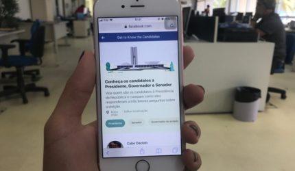 Ferramenta do Facebook para apresentar os candidatos maranhenses