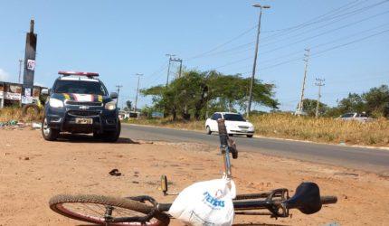 Ciclista morre atropelado por carreta na BR-135 em São Luís