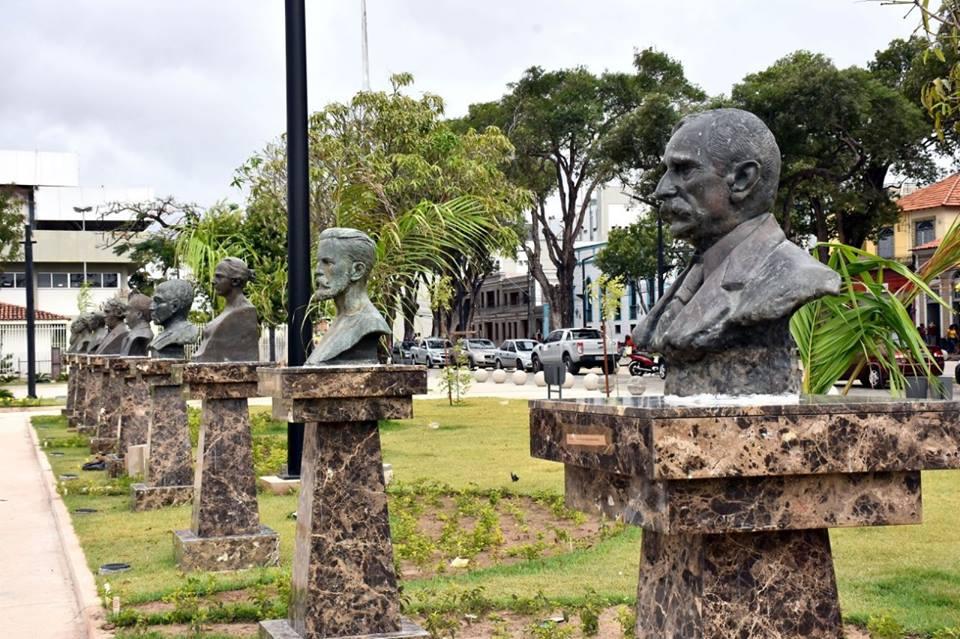 Bustos estão de volta à Praça do Pantheon, em São Luís | O Imparcial