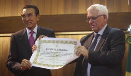 Senador Edison Lobão recebe título de cidadão piauiense