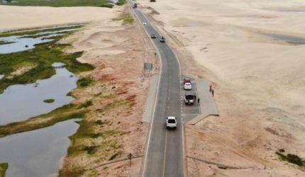 A nova estrada de Barreirinhas em imagens