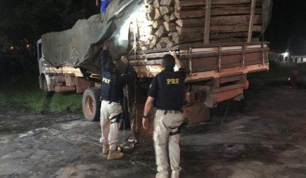 Madeira ilegal apreendida em Santa Inês pode ter sido roubada de território indígena