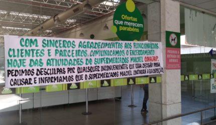 Mais uma loja dos Supermercados Maciel fecha em São Luís