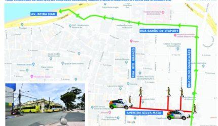Prefeitura interdita trânsito em avenida no Centro, em São Luís