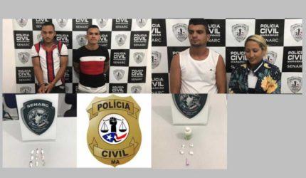 Polícia prende acusados de envolvimento em tráfico de drogas na Lagoa