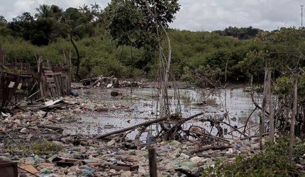 Rio Anil agora é cinza