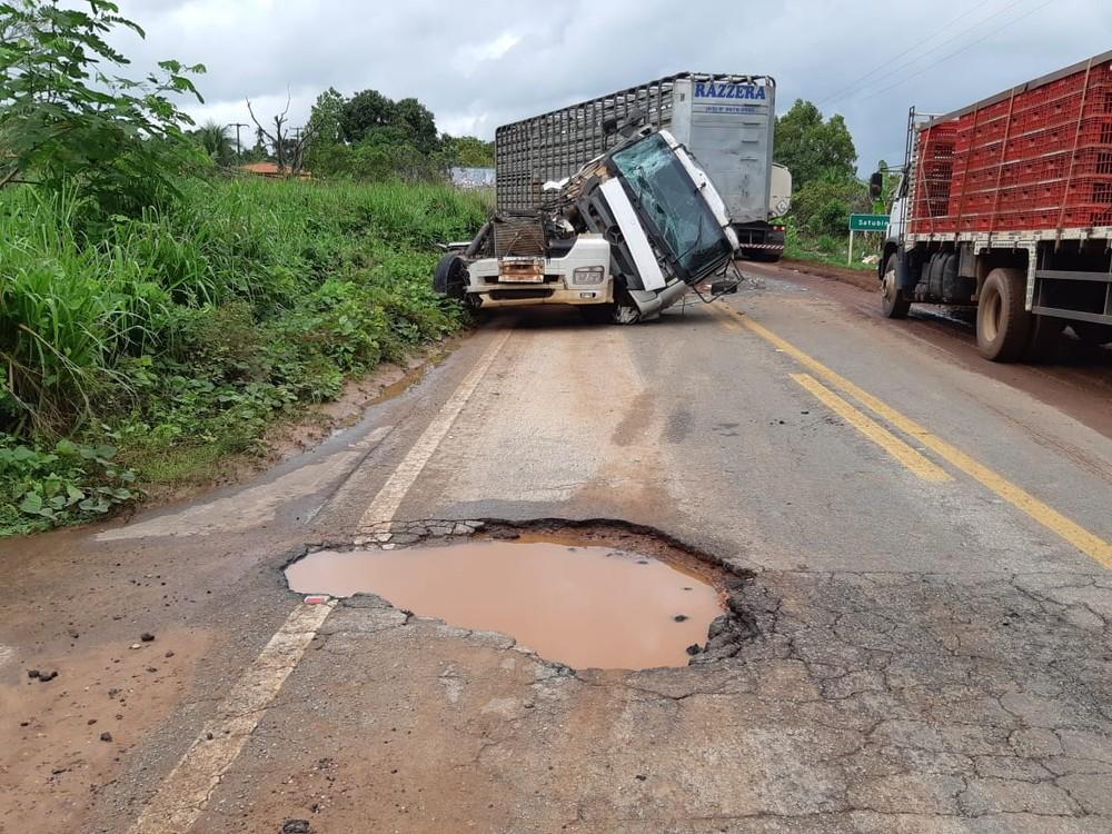 O acidente foi registrado na manhã de domingo (19), no Km 315 da BR-316 em Pio XII