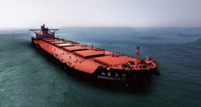 Navio MV Shandong da Zhi recebe permissão para atracar na costa maranhense