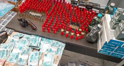 Comerciante é preso por venda ilegal de munições e receptação de cigarros em Miranda do Norte