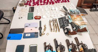 Operação policial apreende drogas e armas em Pinheiro