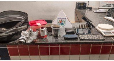 Em Açailândia, três homens são presos em posse de arma de fogo e entorpecentes
