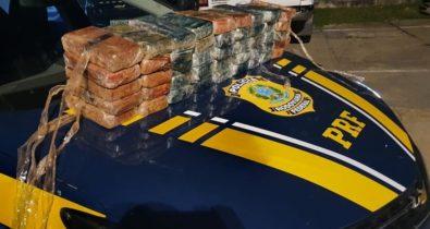 Polícia Rodoviária apreende 52 kg de cocaína na BR-316