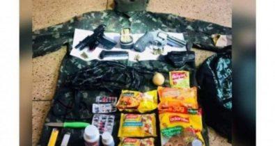Dinheiro, remédios e armas: veja o que Lázaro carregava na mochila