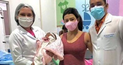 Bebê nasce com anticorpos contra Covid-19 no Maranhão