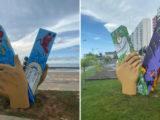 Cartões postais de São Luís ganham esculturas dos festejos juninos