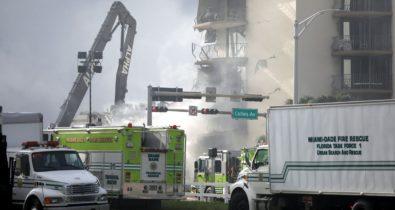 Equipes resgatam mais oito corpos em desabamento na Flórida