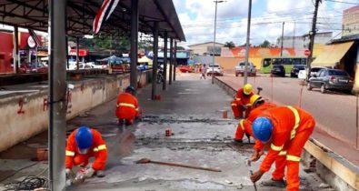 Governo do Estado inicia reconstrução da Feira do Maiobão