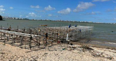 Avança obra de urbanização da Praia do Bonfim na capital