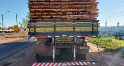 PRF apreende 46m³ de madeira transportada de forma ilegal no Maranhão