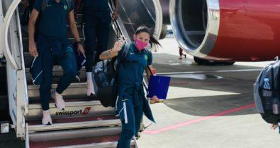Seleção Feminina de Futebol desembarca em Tóquio a cinco dias da estreia