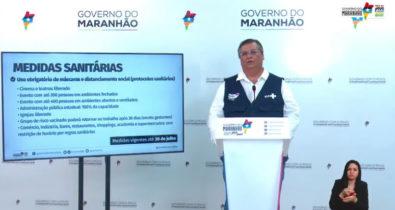 Flávio Dino anuncia liberações de abertura e retirada de restrição no horário de funcionamento de estabelecimentos