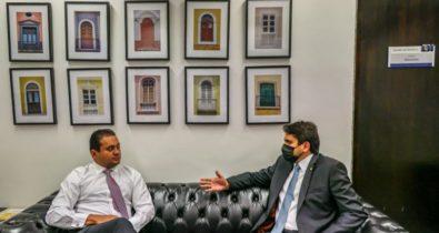 Juscelino e Weverton na comissão da LDO