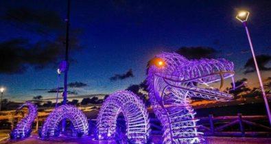 São Luís ganha escultura em alusão à lenda da serpente