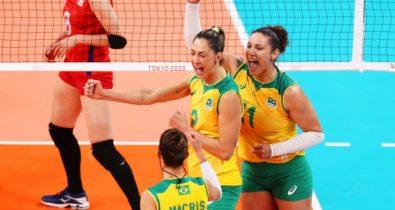 Brasil atropela o Japão no vôlei feminino com 3 sets a 0